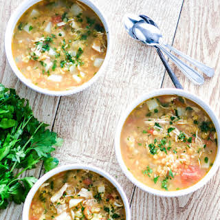 Red Lentil Soup with Chicken and Turnips.