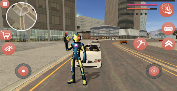Download Black Superhero Iron Stickman Rope Hero Mafia For PC Windows and Mac apk screenshot 5