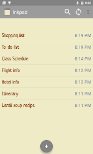 InkPad Notepad - Notes - To do - screenshot thumbnail