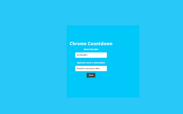 Chrome Countdown