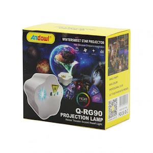 Lampa proiector cu telecomanda, lumini laser RGB, Andowl Q-RG90