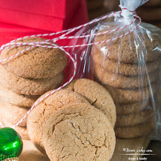 Chewy and Tender Gingersnap Cookies