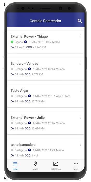 app para controle de frota