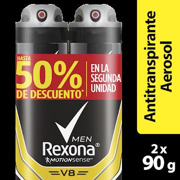 OFERTA  ANTITRANSPIRANTE   REXONA MEN V8 MOTIONSENSE SYSTEM 48H X2UND
