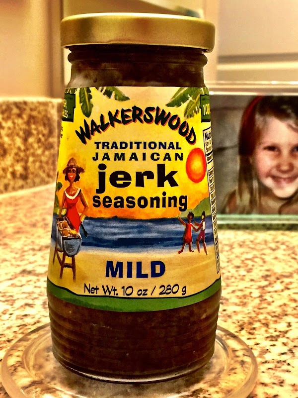 * In the Ziploc bag add  WWalkerswood Traditional Jerk Seasoning, Colgin Mesquite Liquid...