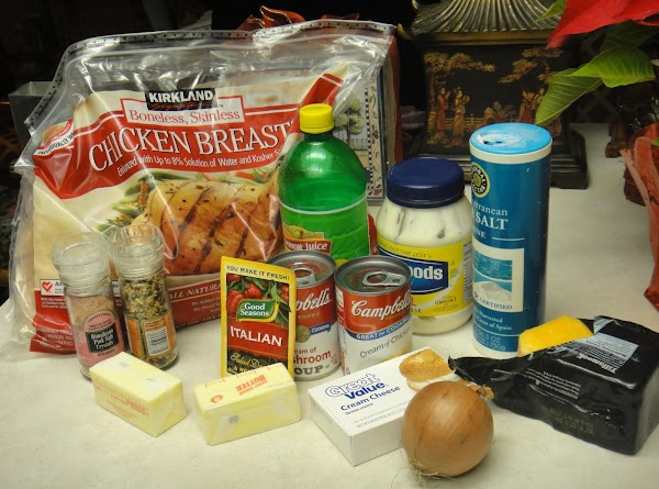 All the ingredients you will need, but the cheese and the lemon the props...