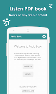 AudioBook - Listen any PDF, news, article or text- screenshot thumbnail