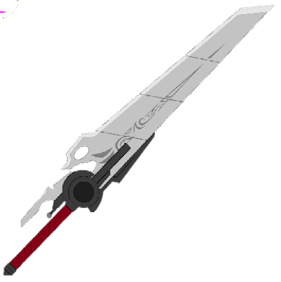 The sword form of Qrow's weapon in the show RWBY