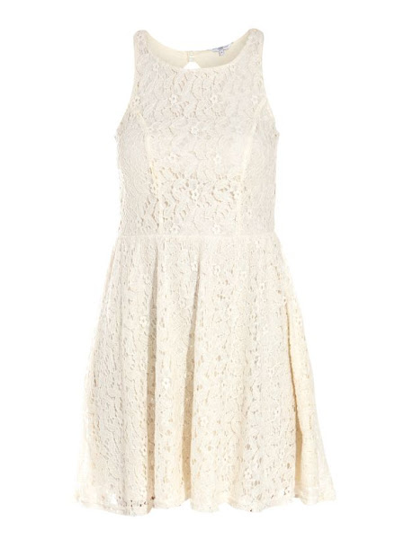 Photo: Cream Cut Out Back Lace Dress £27.99 http://bit.ly/QxT37v