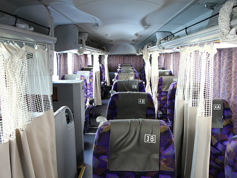 九州産交バス「サンライズ号」 ・707 車内