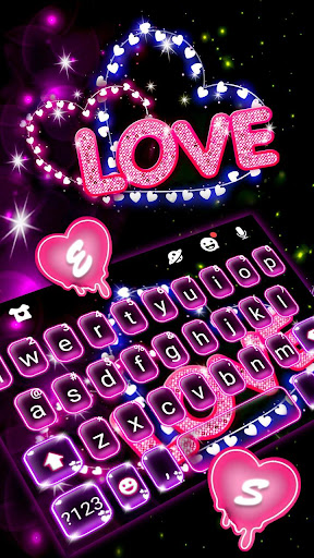 Neon Love Keyboard Theme 1.0 2
