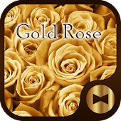 Luxury Wallpaper Gold Rose Theme