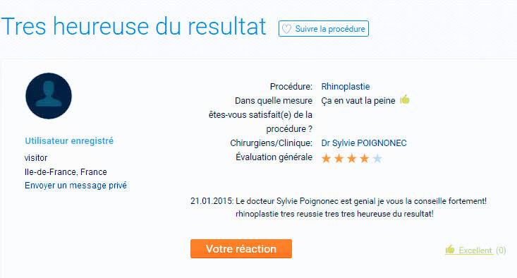 Sylvie POIGNONEC avis lu sur www.estheticon.fr