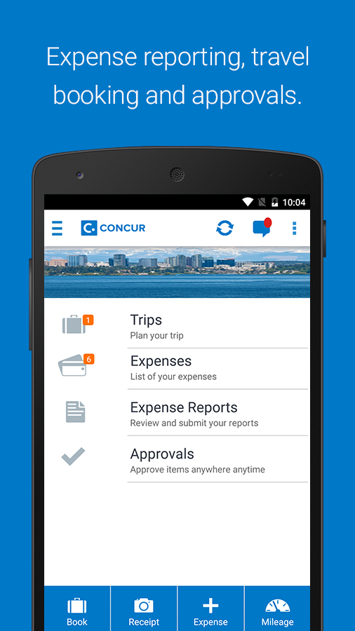 Concur- screenshot