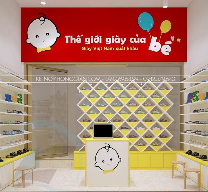 thiết kế shop giày dép đẳng cấp