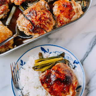 One-Pan Roasted Oyster Sauce Chicken & Scallions.