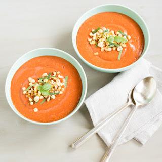 Roasted Peach Gazpacho Recipe