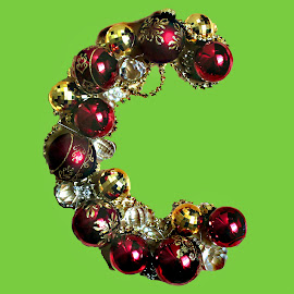 C for Christmas by Janna Morrison - Typography Words ( christmas c )