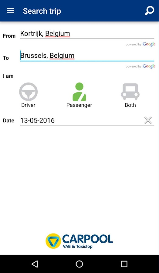 Carpool by VAB & Taxistop- screenshot