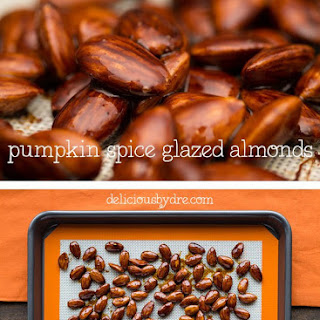 Pumpkin Spice Glazed Almonds