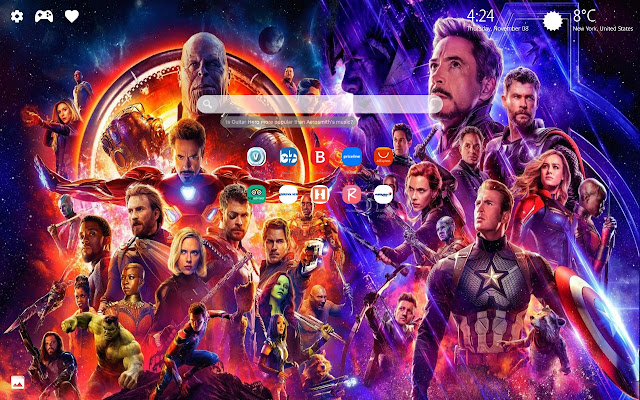 Avengers 4 Endgame New Tab Wallpaper Hd