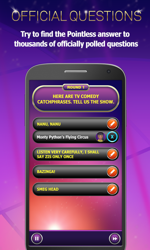 Pointless Quiz- screenshot