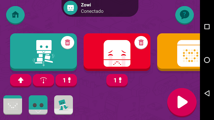android Zowi App Screenshot 3