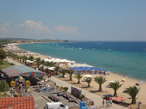 Photo: The hole beach of Nea Flogita (7,5 km)-Ολόκληρη ( 7,5 km ) παραλία των Νέων Φλογητών - Νέων