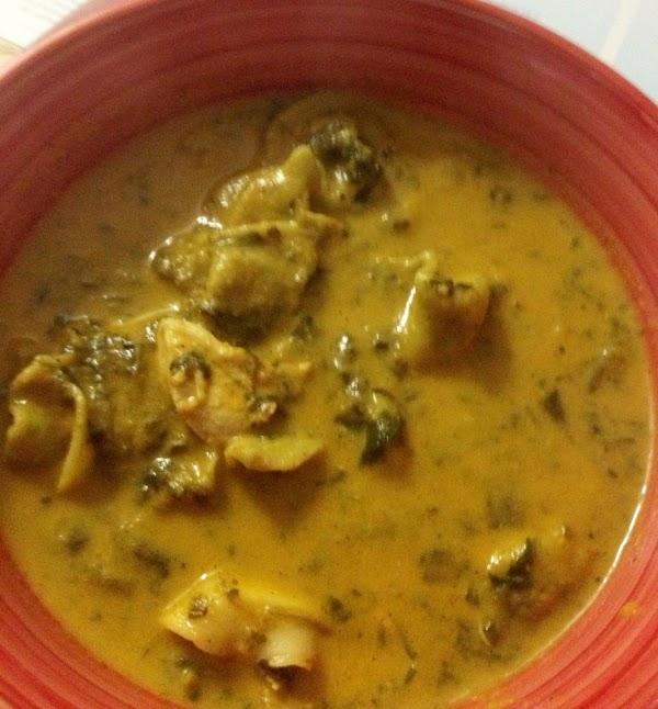 Tomato Soup With Chicken, Tortellini, Spinach Recipe