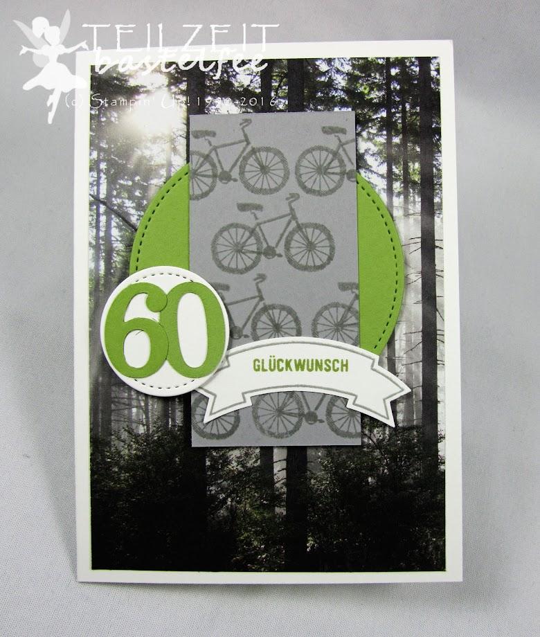 Stampin' Up! - Geburtstag, Männerkarte, birthday, male card, bike, Fahrrad, Designerpapier, DSP, Bannerweise Grüße, Thoughtful Banners