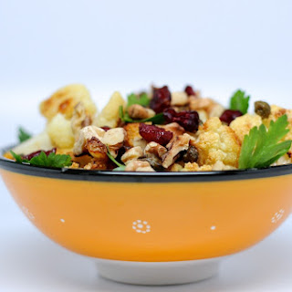 Roasted Cauliflower and Fried Capers Salad