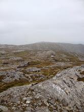 Photo: Peak in distance is Corcóg