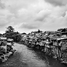 Ciliwung river 2018 by Giat Widhiawan - Black & White Street & Candid
