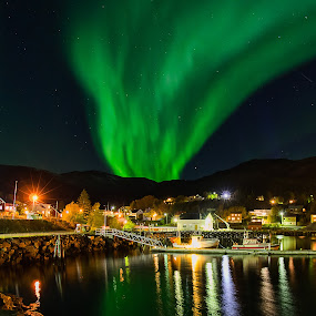Hamndalen by Rune Nilssen - City,  Street & Park  Skylines ( k3, pentax.k3, aurora, pentax, hamndalen, borealis.october, lodingen )