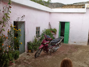 Photo: The central courtyard of the house where we spent our first night of the trek.