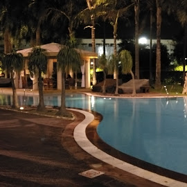 Nightlife by Rickta Dutta - Novices Only Landscapes ( swimming, kolkata, swimming pool, hotel, holiday, water, landscape, party, indian )