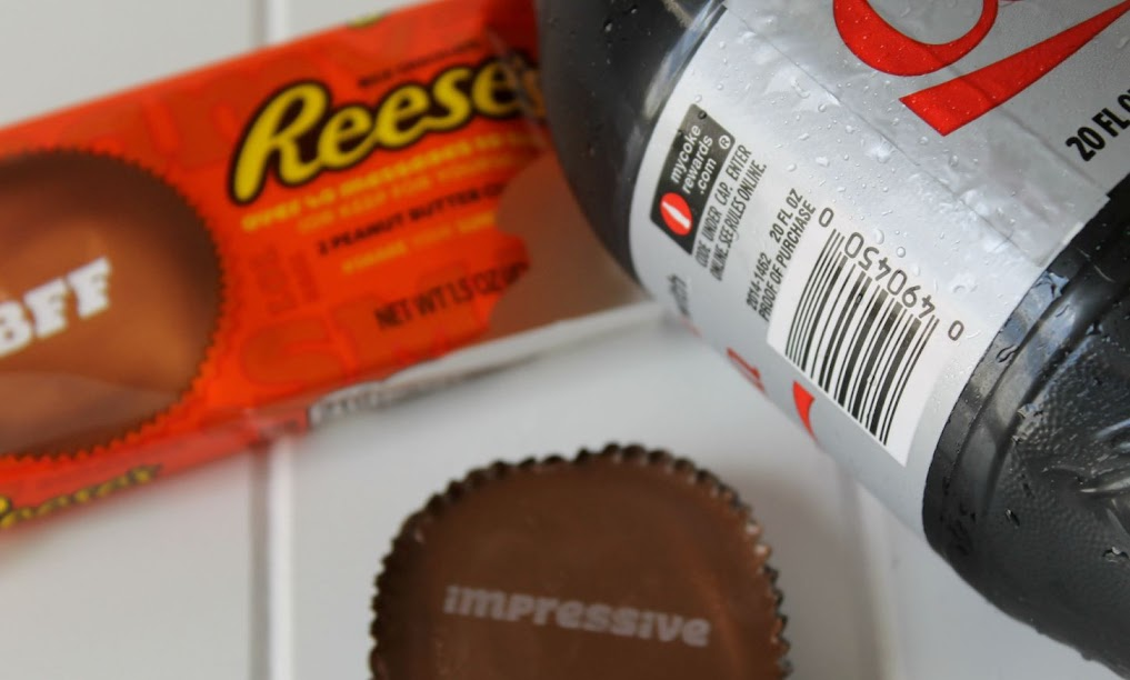 Custom REESE'S cups are printed with fun words and phrases