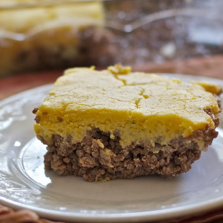 Hamburger Casserole with Cornbread Topping Gluten Free, Dairy Free Recipe