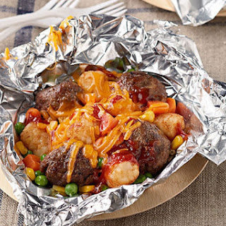 All-in-One Meatball and TATER TOTS Packets