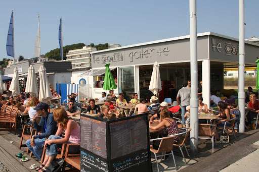 The front de mer (waterfront) in Le Havre, France, features some lovely cafes.