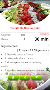 Download Saladas receitas:comida saudável ​​com Nutrição For PC Windows and Mac apk screenshot 6