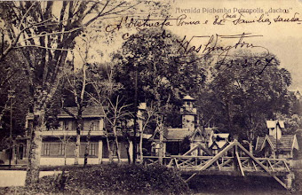 Photo: Avenida Piabanha. Este prédio e suas estruturas visíveis na imagem eram as antigas Duchas
