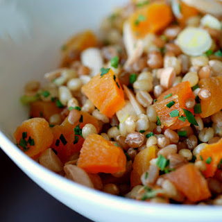 Apricot and Toasted Almond Wheat Berry Salad