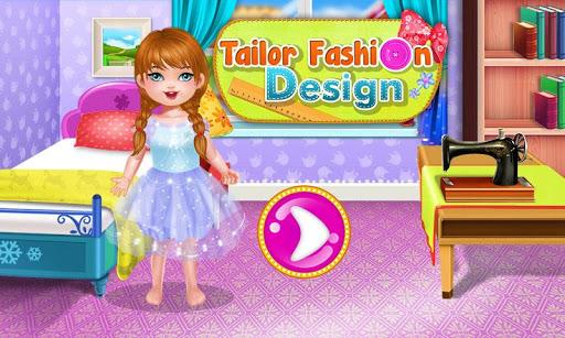 量身定制的時尚遊戲的女孩