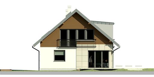 Dom przy Cyprysowej 21 - Elewacja lewa