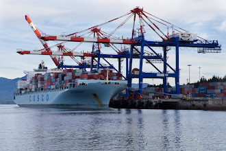 Photo: Time to start heading home!  Prince Rupert is a busy container port.