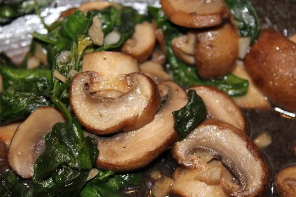 Sauteed Spinach & Mushrooms Recipe