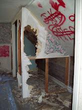 Photo: Upstairs: graffiti and vandals