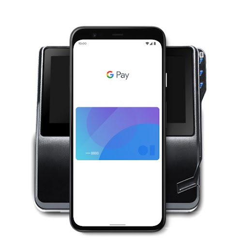 A phone featuring GPay
