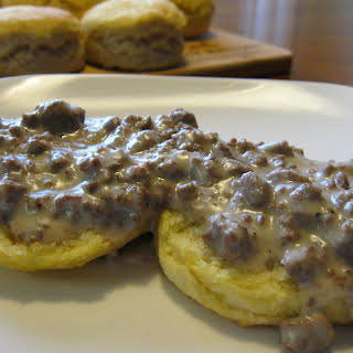 Venison Sausage Gravy and Biscuits.